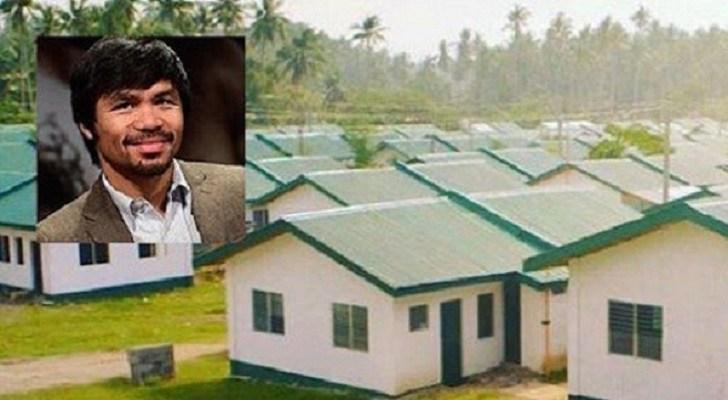Le champion du monde en boxe Manny Pacquiao construit 1000 maisons pour les Philippins pauvres