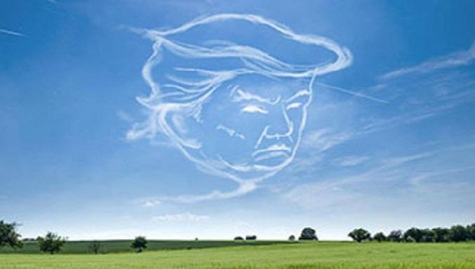 2 pilotes de la marine US ont dessiné une énorme tête de Trump dans le ciel