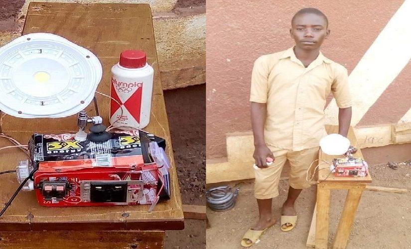Guinée : Un élève invente un moteur qui permet de charger les appareils et produire de la lumière.