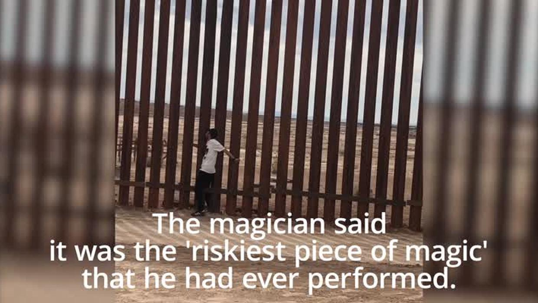Incroyable : Un magicien mexicain passe à travers le mur de Trump dans une vidéo devenue virale