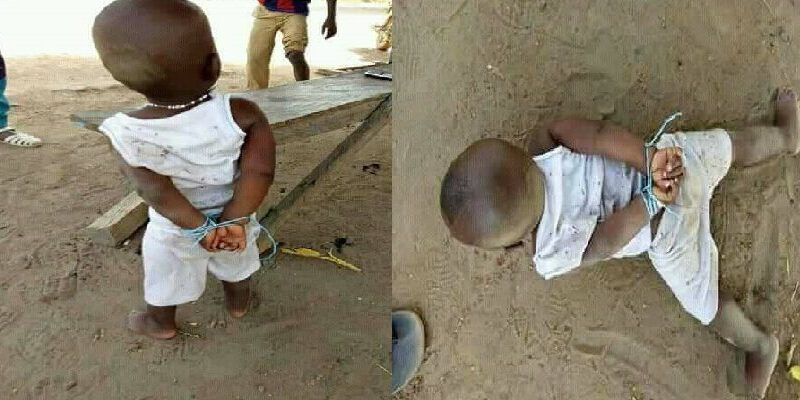 2 years old baby arrested and given a prison sentence