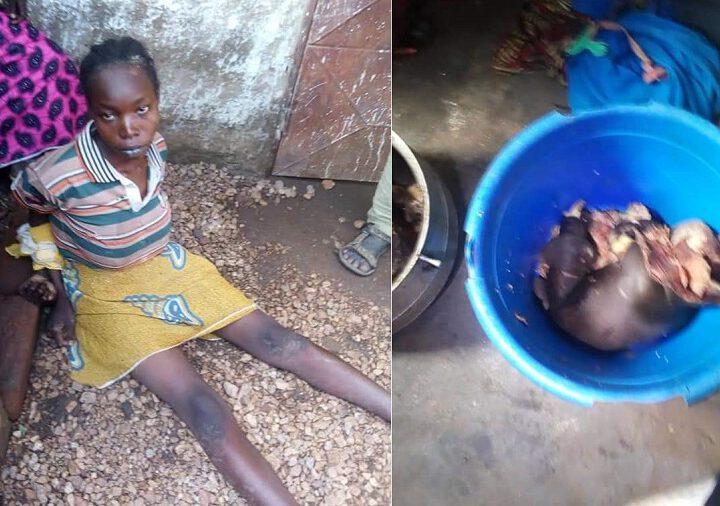 Une mère affamée prépare son bébé de 6 mois pour le petit déjeuner