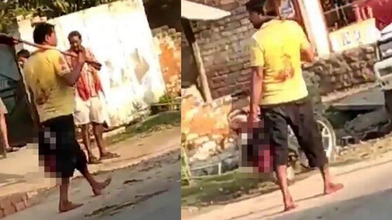 Un mari jaloux coupe la tête de sa femme après l'avoir vue parler à un voisin (Photos)