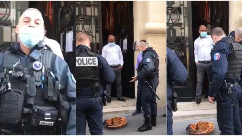 Une calebasse de juju placée devant l'ambassade du Nigéria effraie les policiers français (vidéo)