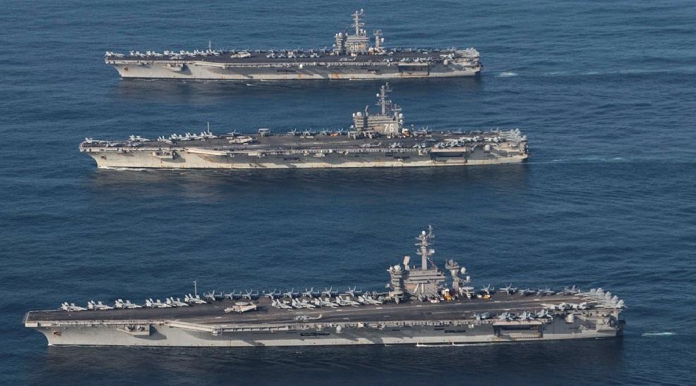 L'US Navy déploie trois porte-avions dans le Pacifique contre la Chine