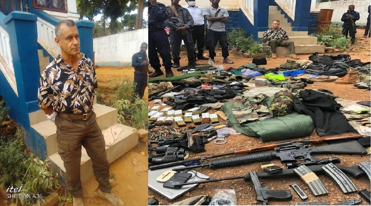 Un français pris en flagrant délit avec un énorme stock d'armes en Centrafrique
