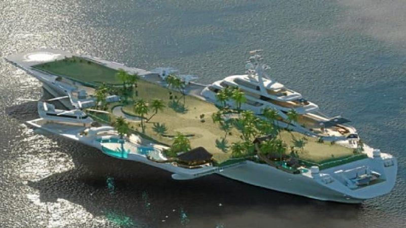 L'ex-porte-avion Foch bientôt nouveau temple du luxe sur mer ?