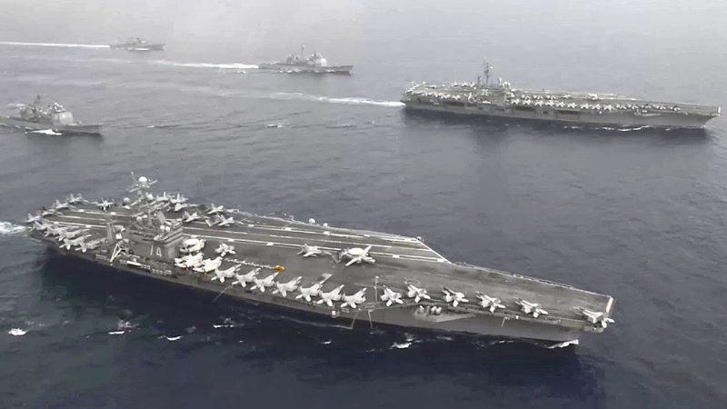 Urgent : Les États-Unis et la Chine ont leurs porte-avions en ligne de mire