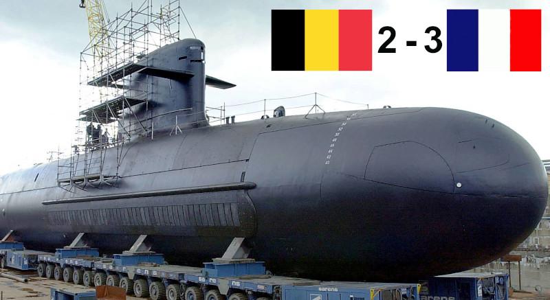 Défaite face aux Bleus, la Belgique annule sa commande de 46 sous-marins à la France … ?